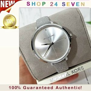 NWT Michael Kors  Charley Silver-Tone Watch MK2793